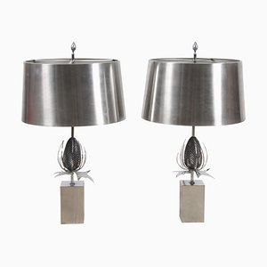 Thistle Table Lamps from Maison Charles, 1970s, Set of 2