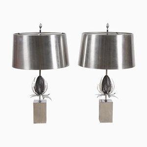 Thistle Tischlampen von Maison Charles, 1970er, 2er Set