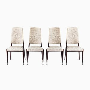 Vintage Chairs, France, 1960s, Set of 4