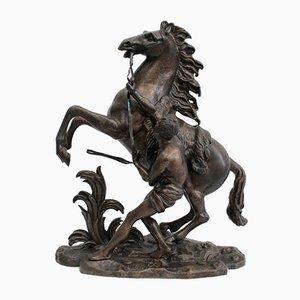 Bronze Cheval de Marly nach G. Coustou, 19. Jh