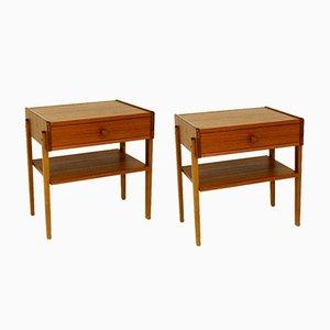 Teak Bedside Tables, Sweden, 1960s, Set of 2