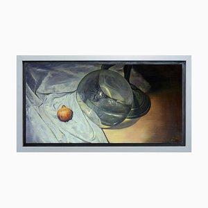 Maxmilian Ciccone, La lente e il bronzo, Oil on Canvas
