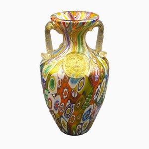 Murano Glass MIllefiori Vase by Gambaro & Poggi, Italy