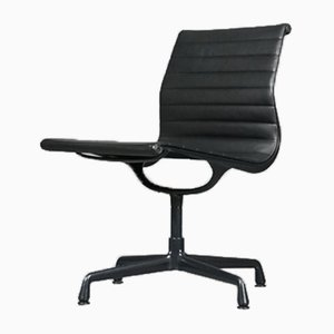Model EA 106 Aluminum and Leather Chair by Charles & Ray Eames for Vitra, 1996