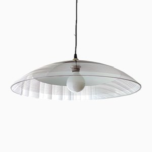 Extra Large Mid-Century Transparent Acrylic Ceiling Lamp, 1970s