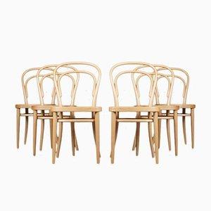 Chaises No. 214 par Michael Thonet pour Thonet, Set de 6