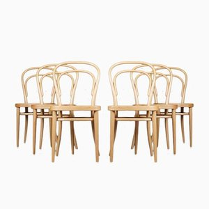No. 214 Chairs by Michael Thonet for Thonet, Set of 6