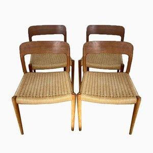 Modell 75 Stühle von Niels Otto (NO) Møller für JL Møllers, 4er Set