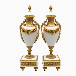 19th Century Napoleon III Gilt Bronze Vases, Set of 2