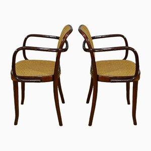 Kleine Armlehnstühle aus Wiener Stroh & Holz von Sautto & Liberale, Italien, 1960er, 2er Set