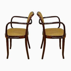 Small Armchairs in Vienna Straw and Wood from Sautto & Liberale, Italy, 1960s, Set of 2
