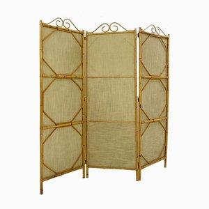 Divisorio a tre pannelli in bambù