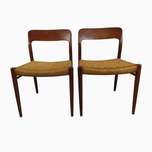 Skandinavische Stühle von Niels Otto (NO) Møller, 2er Set