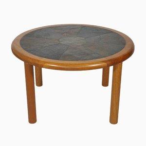 Teak & Slate Tile Coffee Table by Tue Poulsen for Haslev Møbelsnedkeri