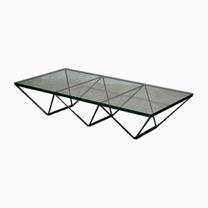 Alanda Rectangular Glass and Iron Coffee Table by Paolo Piva, 1979