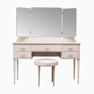 Art Deco Dressing Table, Holland, 1930s, Set of 2