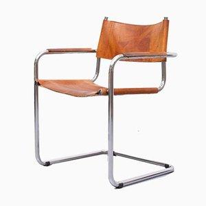 S34 Leather Bauhaus Armchair by Mart Stam & Marcel Breuer