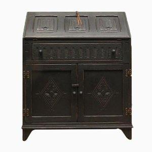 Vintage Black Writing Bureau Desk