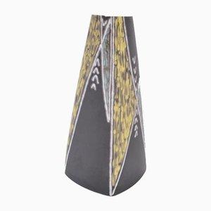 Tall Black Danish Mid-Century Ceramic Table Lamp by Holm Sorensen for Søholm