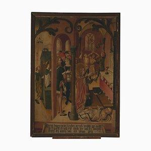 Late 15th Century Painting of Saint Egidius Healing a Possessed Man