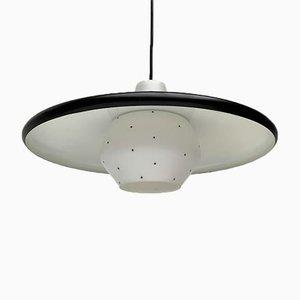 Lampada a sospensione Mid-Century minimalista in metallo e vetro