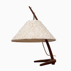 Mid-Century Dornstab Tischlampe aus Teak von A. Pöll für Kalmar