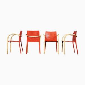Postmoderner Modell 290 F Stuhl von Prof. Wulf Schneider für Thonet, 4er Set
