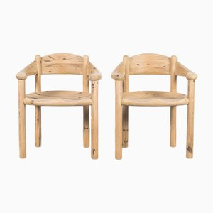 Danish Soaped Wooden Chairs by Rainer Daumiller, 1970, Set of 2