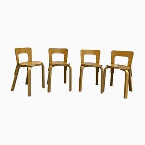 Chaises No. 65 par Alvar Aalto, Set de 4