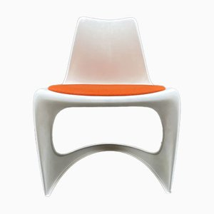 Mid-Century 290 Stacking Chairs in Moulded Plastic by Steen Østergaard for Cado, Set of 6