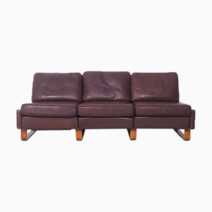 Leather 2-Seater Conseta Sofa from Cor, 1960s, Set of 3