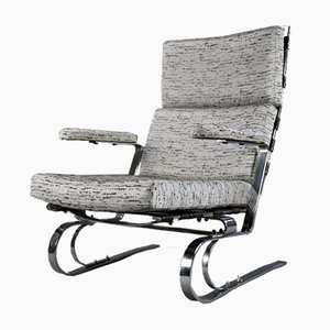 Mid-Century Modern Grey Lounge Chair