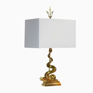 Tischlampe mit Delfin und Dreizack