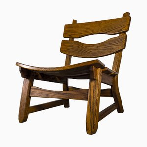 Brutalist Chair in Oak by Dittmann & Co for Awa Radbound, 1960s