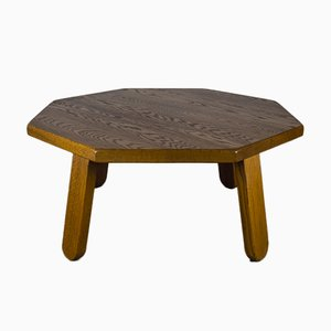 Brutalist Table in Oak in the Style of Dittmann & Co, 1960s.