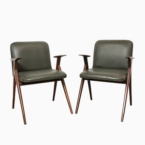 Italian Rosewood Desk Chair by Luigi Vietti, 1950s, Set of 2
