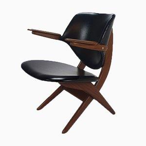 Mid-Century Dutch Lounge Chair by Louis Van Teeffelen for Awa, 1960s