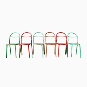 Chairs by René Herbst for Mobilor, Set of 6