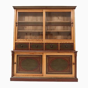 Dutch Antique Country Pine Cupboard, 1890s