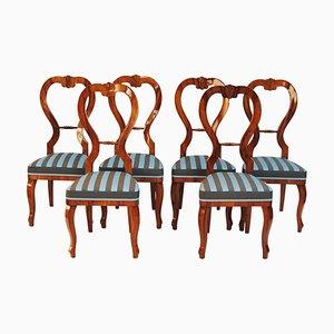 Biedermeier Cherry Chairs, Czechia, 1840s, Set of 6