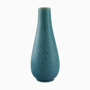Vase aus glasierter türkiser Keramik von Gunnar Nylund für Rörstrand