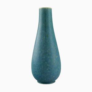 Vase in Glazed Turquoise Ceramic by Gunnar Nylund for Rörstrand