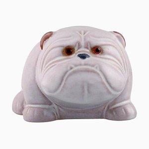 Bulldog in Hand-Painted Glazed Ceramic by Jie Ceramic, Sweden