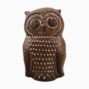 Owl in Glazed Ceramic by Norrman Ceramic, Sweden, 1970s