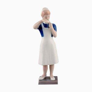 Porcelain Nurse Figurine Model Number 2379 from Bing & Grondahl