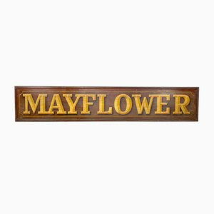 Antique Hand-Painted Wooden Mayflower Shop Sign
