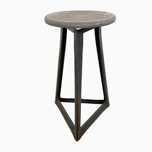 Industrielle Hocker mit Bakelit Tischplatten, 5er Set