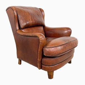 Handbemalter Vintage Schafsleder Armlehnstuhl