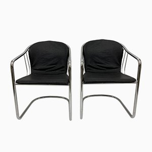 Italian Dining Chairs by Gastone Rinaldi for Fasem, 1980s, Set of 2
