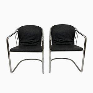 Italienische Esszimmerstühle von Gastone Rinaldi für Fasem, 1980er, 2er Set